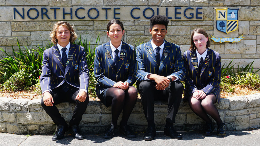 Northcote College - Head and deputy head students